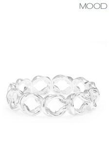 Mood Silver Plated Knot Stretch Bracelet