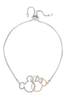 Disney Sterling Silver Mickey Adult Bracelet