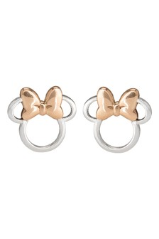 Disney Sterling Silver Minnie Childrens Earrings