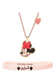 Disney Red Minnie Costume Childrens Necklace  Bracelet Set