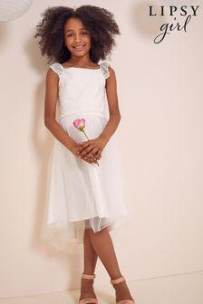 Lipsy Ivory Lace Bodice Occasion Dress