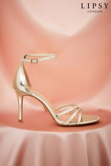 Lipsy Gold Barely There Heeled Sandal