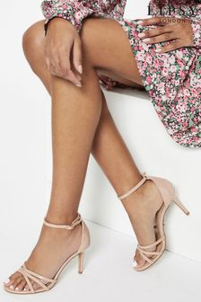 Lipsy Nude Barely There Heeled Sandal