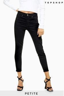 "Topshop Black Petite Jamie Jeans 28"" Leg"