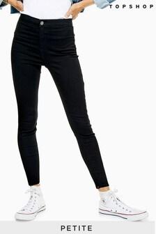 """Topshop Black Petite Joni Jeans 28"""" Leg"""