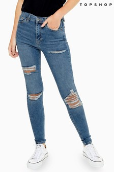 "Topshop Super Ripped Jamie Jeans 34"" Leg"