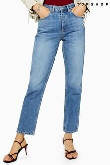 "Topshop Straight Jeans 30"" Leg"