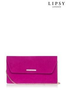 Lipsy Pink Envelope Clutch Bag