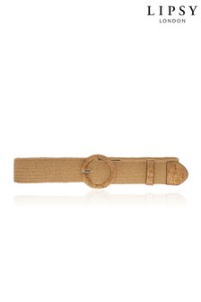 Lipsy Neutral Raffia Belt