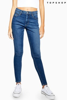 "Topshop Mid Blue Leigh Jeans 32"" Leg"