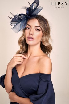 Lipsy Navy Diamante Fascinator