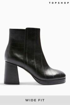 Topshop Wide Fit Eddie Platform Boots