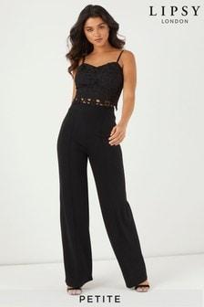 Lipsy Black Petite High Waist Trouser