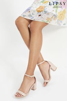 Lipsy Nude Block Heel Sandals