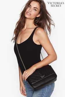 Victoria's Secret Pebbled V-Quilt Bond Street Shoulder Bag