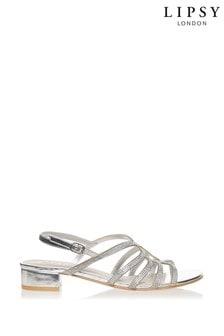 Lipsy Diamanté Low Block Heel Sandals