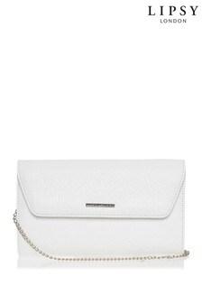 Lipsy White Envelope Clutch Bag