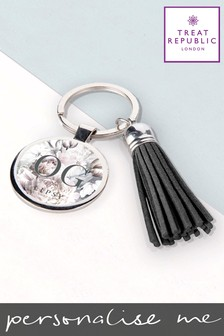 Personalised Lipsy Tassle Keyring  By Treat Republic
