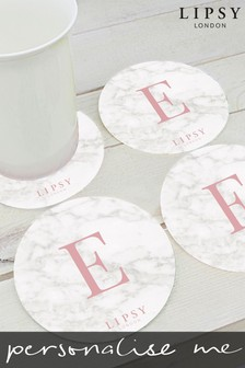 Personalised Lipsy Glass Coaster By Treat Republic