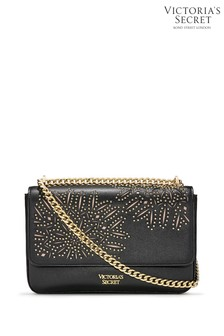 Victoria's Secret Black VS Laser Cut Bond Street Shoulder Bag
