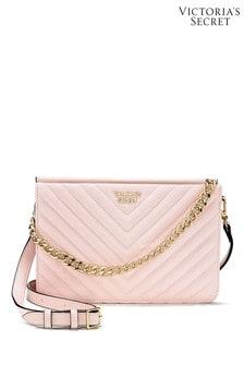 Victoria's Secret Blush Pebbled V-Quilt 24/7 Crossbody