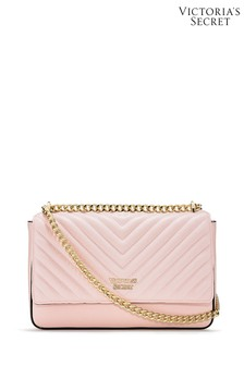 Victoria's Secret Blush Pebbled V-Quilt Bond Street Shoulder Bag