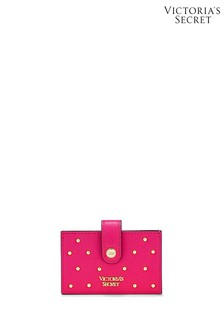 Victoria's Secret Fuchsia Studded Accordion Card Case