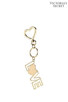 Victoria's Secret Gold XO Love Charm Keychain