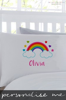 Personalised Unicorn Rainbow Pillowcase By Gift Collective