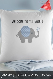 Personalised Baby Elephant Cushion By Gift Collective