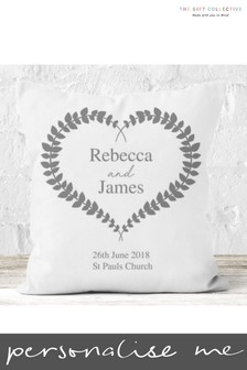 Personalised Wedding Cushion By Gift Collective