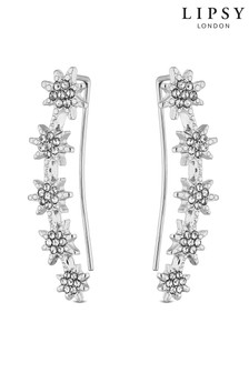 Lipsy Jewellery Silver Star Crawlier Earrings