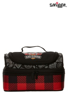 Smiggle Black Express Double Decker Lunchbox