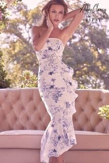 Abbey Clancy x Lipsy Belted Bandeau Dress