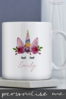 Personalised Unicorn Wreath Mug By Gift Collective