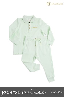Personalisation Mini Boys Long Top And Trouser Set By HA Designs