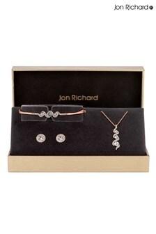 Jon Richard Bridal Crystal Twist Drop Matching Jewellery Set - Gift Boxed