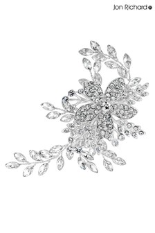 Jon Richard Bridal Clear Crystal Darcey Pave Leaf Hair Slide