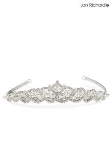 Jon Richard Bridal Raised Diamante Pearl Tiara