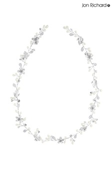 Jon Richard Silver Bridal Crystal & Pearl Hair Vine