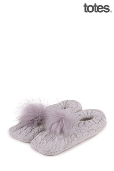 Totes Grey Chenille Footsie