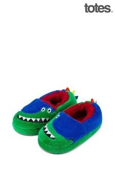 Totes Green Kids Novelty Slipper