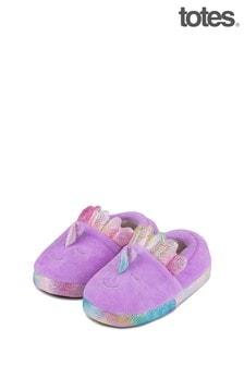 Totes Purple Kids Novelty Slipper