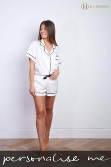 Personalised Short Sleeve Pyjama Set By HA Designs