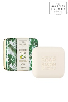 Scottish Fine Soaps Coconut & Lime Soap in a Tin 100g