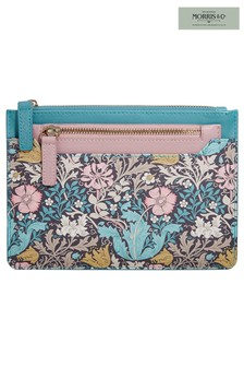Morris & Co Pink Clay and Honeysuckle Travel Wallet & Coin Purse