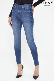 Lipsy Kate Navy Blue Mid Rise Skinny Jean