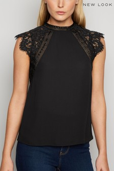 New Look Lace Sleeve Shirt