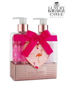 The Luxury Bathing Company Take Time To Dream - Reusable Tin Caddy containing 300ml Hand Wash, 300ml Hand & Nail Cream