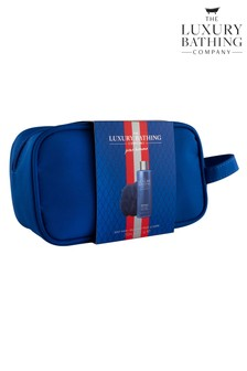 The Luxury Bathing Company Kitted Out - Wash Bag containing 250ml Body Wash and Body Polisher